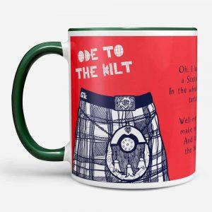 Ode to the Kilt chunky mug by Gillian Kyle