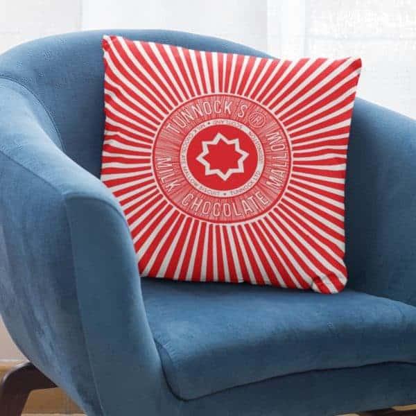 Tunnock's tea Cake Wrapper cushion