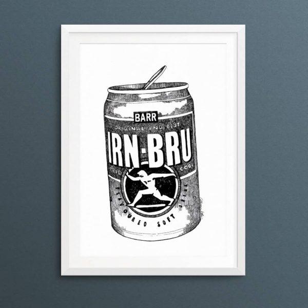 IRN-BRU art print by Gillian Kyle
