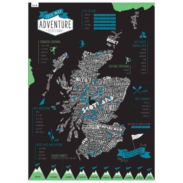 Adventure Scotland Scratch Map by Gillian Kyle