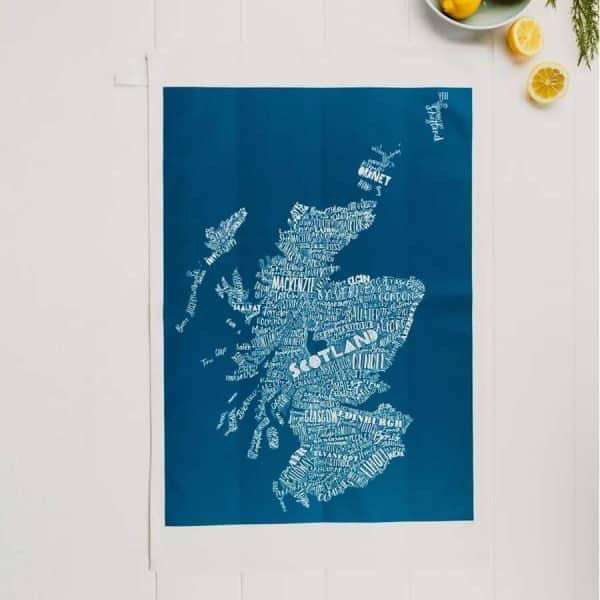 Mapped Out Scotland Map tea towel