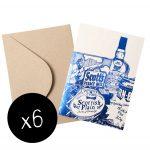 Scottish Breakfast foil greetings card