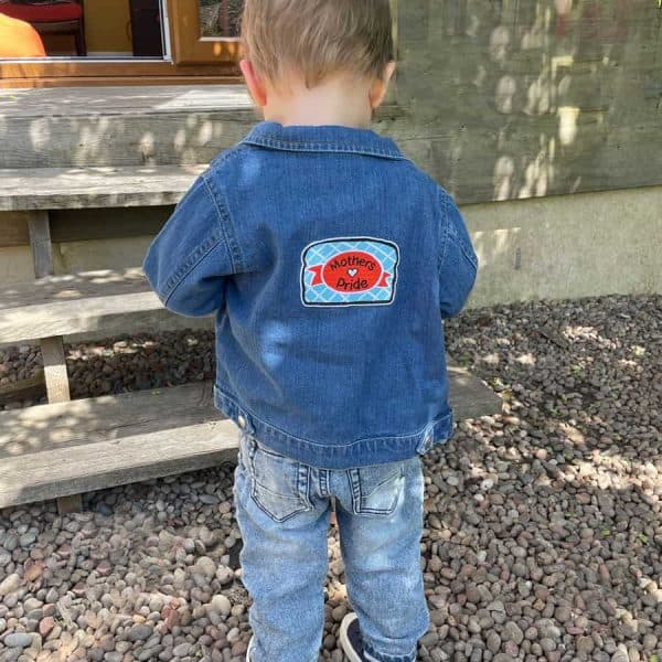 Mother's Pride denim kids and baby jacket by Gillian Kyle