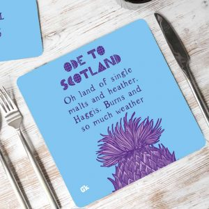 Ode to Scotland placemats by Gillian Kyle