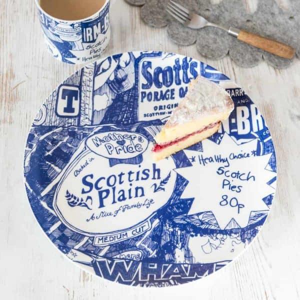Scottish Breakfast Big Plate by Scottish artist Gillian Kyle