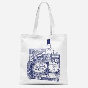 Scottish Breakfast Basic tote bag by Gillian Kyle