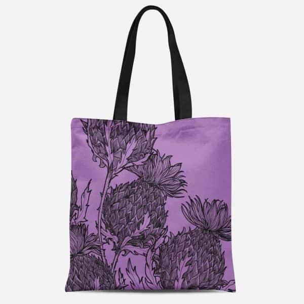 Black Thistle Tote by Gillian Kyle