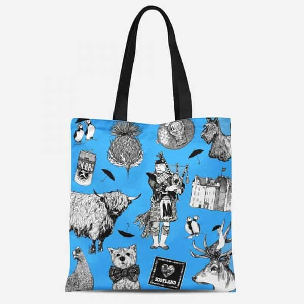 Love Scotland Tote Bag by Gillian Kyle