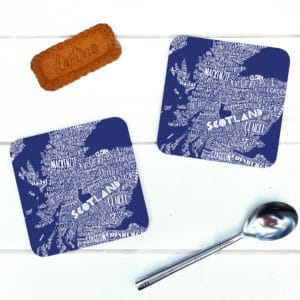 Mapped Out Scotland Map coasters