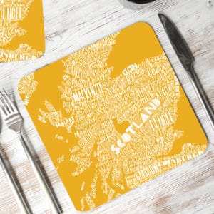 Mapped Out Scotland Map Placemats