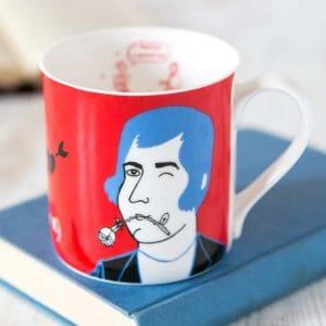 Robert Burns china mug by Gillian Kyle