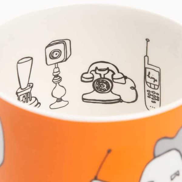Alexander Graham Bell china mug by Gillian Kyle