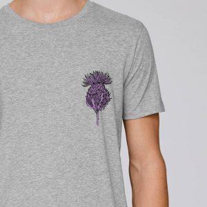 Flower of Scotland Scottish Thistle T-shirt by Gillian Kyle