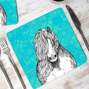Tartan Pony Shetland pony placemats by Gillian Kyle