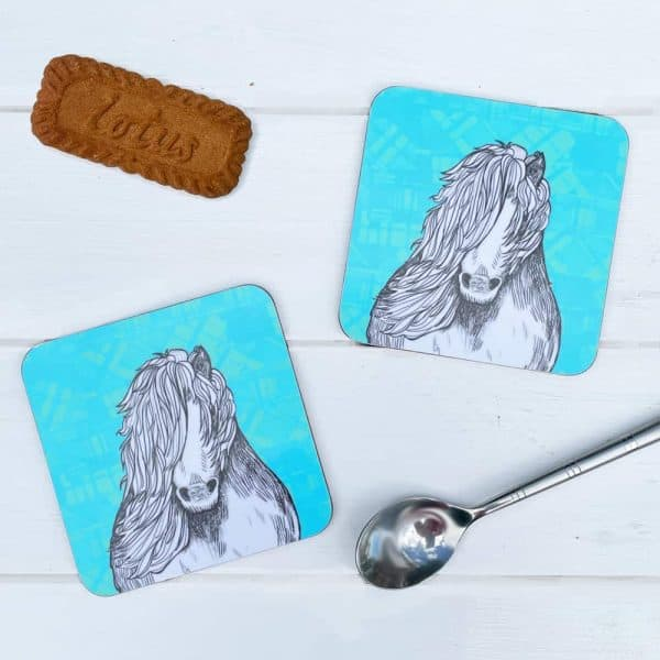 Tartan Pony Shetland pony coasters by Gillian Kyle