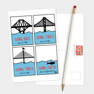 Going Forth Edinburgh postcard by Gillian Kyle
