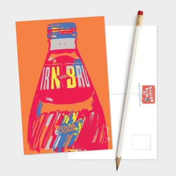 IRN-BRU postcard by Gillian Kyle