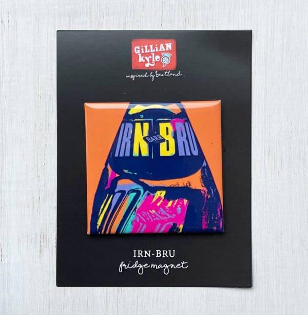 IRN-BRU Fridge Magnet by Gillian Kyle