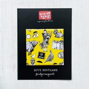 Love Scotland Fridge Magnet by Gillian Kyle