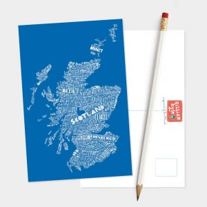 Mapped Out Scotland Map postcard by Gillian Kyle