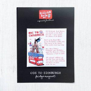 Ode to Edinburgh fridge magnet by Gillian Kyle