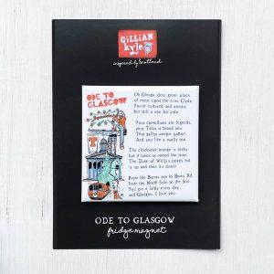 Ode to Glasgow fridge magnet by Gillian Kyle