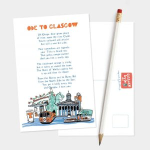 Ode to Glasgow postcard by Gillian Kyle