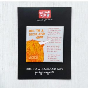 Ode to a Highland Cow fridge magnet by Gillian Kyle