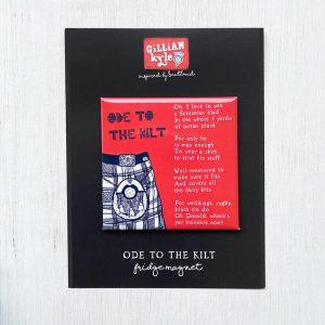 Ode to the Kilt fridge magnet by Gillian Kyle
