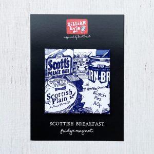 Scottish Breakfast Fridge magnet by Gillian Kyle