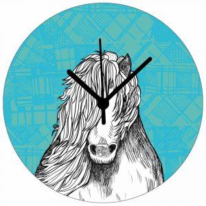 Tartan Pony Wall clock by Gillian Kyle