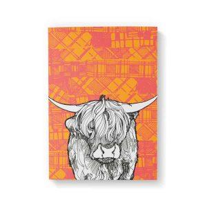 Tartan Cow A6 notebook by Gillian Kyle