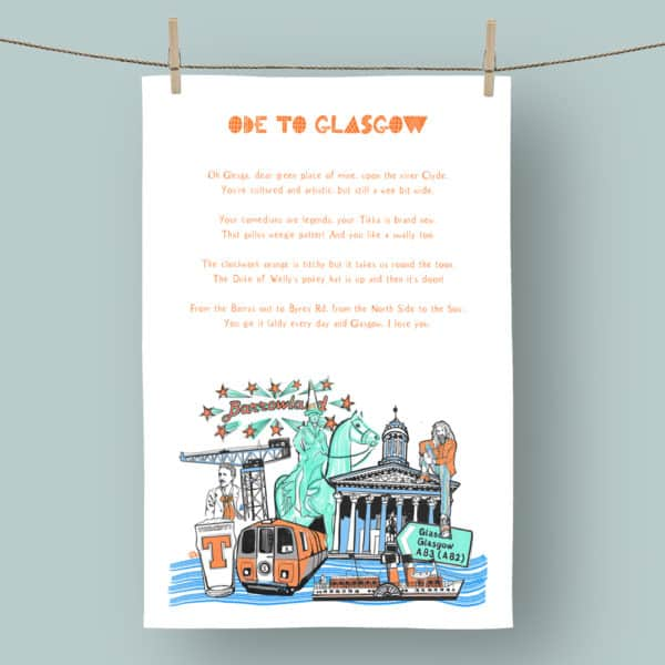 Ode to Glasgow Tea Towel