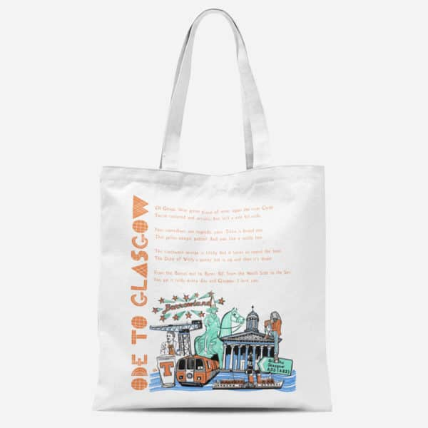 Ode to Glasgow Cotton Canvas tote bag