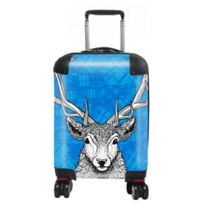 Tartan Stag kids suitcase