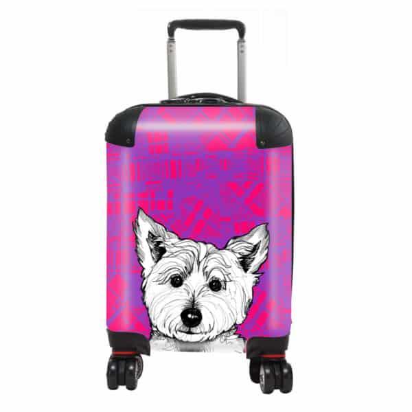 Tartan Westie West Highland terrier kids suitcase