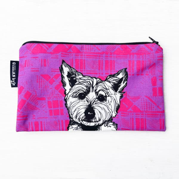 Tartan Westie Accessories pouch and pencil case