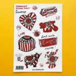Tunnock's Sticker sheet