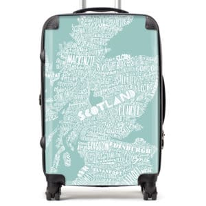 Mapped Out Scotland Map suitcase
