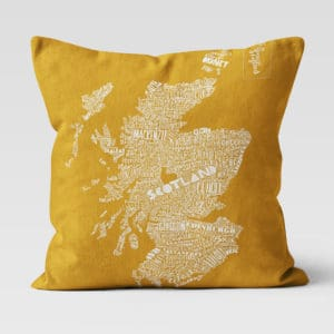 Mapped Out Scotland Map cushion