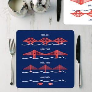 Forth Bridges placemat set