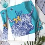 Highland Cow cotton napkins by Gillian Kyle