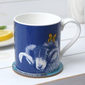Blackface Ram, Butterflies and Bees mugs by Gillian Kyle