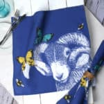 Blackface sheep napkins by Gillian Kyle