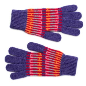 Belig Scottish knitwear lambswool gloves by Gillian Kyle