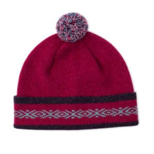 Gigha Scottish knitwear lambswool hat by Gillian Kyle