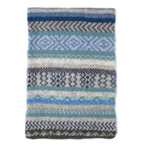 Gigha fairlisle Scottish knitwear lambswool scarf by Gillian Kyle
