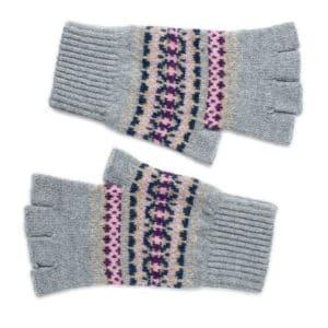 Kerse fairlisle Scottish knitwear lambswool gloves by Gillian Kyle