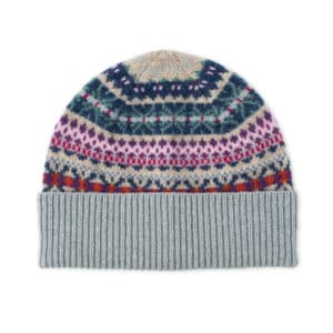 Kerse fairlisle Scottish knitwear lambswool hat by Gillian Kyle