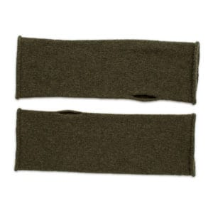 Lushan Recycled Cashmere Mittens - moss
